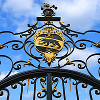 """Burgergemeinde Bern Front Gate in Bern, Switzerland <br /> Created by Burger Law in 1534, the Burgergemeinde Bern is a civic community of 13 companies and guilds.  Membership is hereditary unless Burger rights are granted by vote.  They promote """"the cultural, social and scientific life in the city of Bern"""" including sponsorship of the National History Museum, the Kulturcasino that hosts orchestra performances, as well as two hospitals, a hostel and a Burger library."""