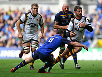 Rugby Union - 2016 / 2017 European Rugby Champions Cup - Quarter-Final: Leinster vs. Wasps<br /> <br /> Willie Le Roux of Wasps in action against Leinster's Luke McGrath , at the Aviva Stadium, Dublin.<br /> <br /> COLORSPORT/KEN SUTTON