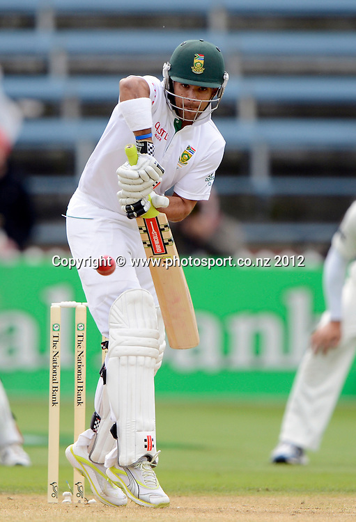 South Africa's Jean-Paul Duminy. Test match cricket. Third Test, Day 2. New Zealand Black Caps versus South Africa Proteas, Basin Reserve, Wellington, New Zealand. Saturday 24 March 2012. Photo: Andrew Cornaga/Photosport.co.nz