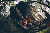 Bouldering, rock climbing and camping in Grayson Highlands in Virginia's Blue Ridge Mountains.