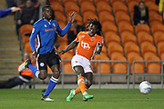 Sessi D'Almeida shoots during the EFL Sky Bet League 1 match between Blackpool and Rochdale at Bloomfield Road, Blackpool, England on 26 September 2017. Photo by Daniel Youngs.
