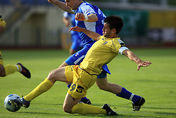 Luka Elsner vs Milan Osterc at 32th Round of Slovenian First League football match between NK Domzale and NK Hit Gorica in Sports park Domzale, on May 6, 2009, in Domzale, Slovenia. Gorica won 2:0. (Photo by Vid Ponikvar / Sportida)