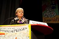08 JAN 2011, BERLIN/GERMANY:<br /> Gesine Loetzsch, Die Linke Parteivorsitzende, haelt eine Rede, 16. Internationale Rosa-Luxenburg-Konferenz, Urania Haus<br /> IMAGE: 20110108-01-025<br /> KEYWORDS: Kommunismus, Gesine Lötzsch