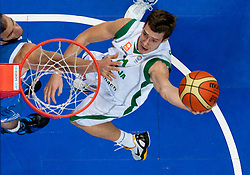 Goran Dragic of Slovenia during basketball game between National basketball teams of Slovenia and Greece at FIBA Europe Eurobasket Lithuania 2011, on September 8, 2011, in Siemens Arena,  Vilnius, Lithuania. Greece defeated Slovenia 69-60.  (Photo by Vid Ponikvar / Sportida)