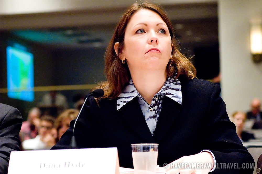 "Dana Hyde. Commission staffers present Staff Statement No. 17, ""Improvising a Homeland Defense."" The 9/11 Commission's 12th public hearing on ""The 9/11 Plot"" and ""National Crisis Management"" was held June 16-17, 2004, in Washington, DC."