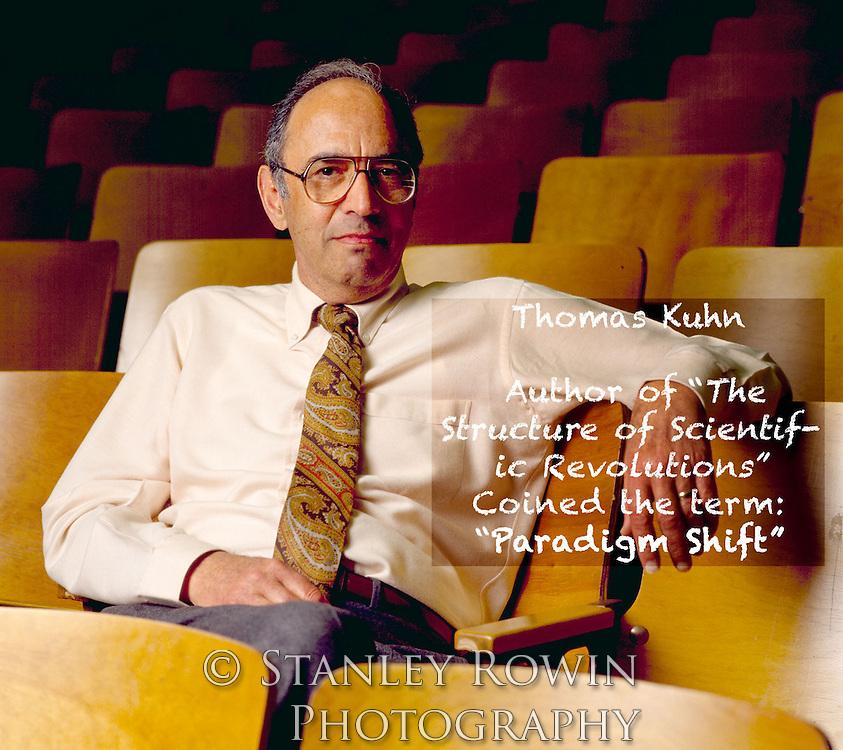 Thomas Samuel Kuhn, Color Portrait, author of The Structure of Scientific Revolutions, paradigm shift,