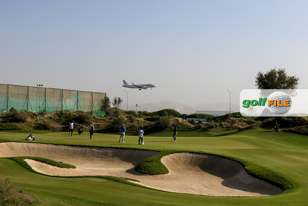 Paul Waring (ENG) and Adrian Otaegui (ESP) on the 8th during Round 2 of the Oman Open 2020 at the Al Mouj Golf Club, Muscat, Oman . 28/02/2020<br /> Picture: Golffile | Thos Caffrey<br /> <br /> <br /> All photo usage must carry mandatory copyright credit (© Golffile | Thos Caffrey)