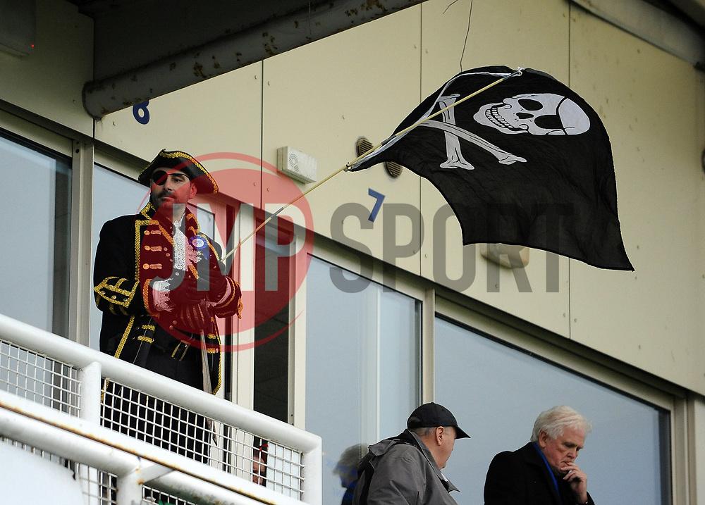 Pirate Flag - Mandatory by-line: Neil Brookman/JMP - 18/11/2017 - FOOTBALL - Memorial Stadium - Bristol, England - Bristol Rovers v AFC Wimbledon - Sky Bet League One
