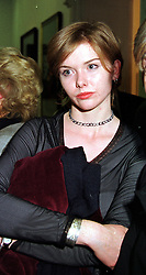 The HON.CATHERINE CECIL daughter of Viscount<br />  Cranborne, at a party in London on 11th October 1999.<br /> MXK 78