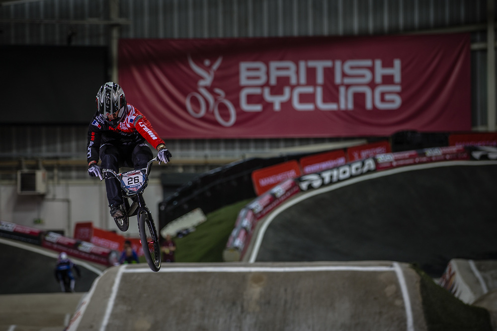 #26 (DARNAND Simba) FRA at the 2016 UCI BMX Supercross World Cup in Manchester, United Kingdom<br /> <br /> A high res version of this image can be purchased for editorial, advertising and social media use on CraigDutton.com<br /> <br /> http://www.craigdutton.com/library/index.php?module=media&pId=100&category=gallery/cycling/bmx/SXWC_Manchester_2016