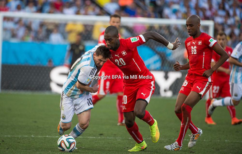 S&atilde;o Paulo, 01 de julho de 2014.<br /> Argentina vs Sui&ccedil;a<br /> Copa do Mundo FIFA 2014<br /> Oitavas de final