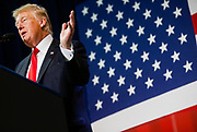 President Donald Trump speaks at the Loren Cook Company about tax reform on Wednesday, August 30, 2017.