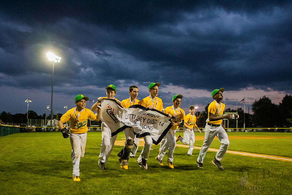 The Erial All-Star team takes a victory lap after winning the District 14 Little League final on Wednesday July 13th.