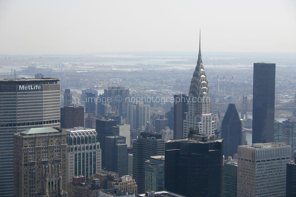 View of Chrysler building; New York