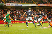 David Clarkson fires in a shot which was saved by Radoslaw Cierzniak - Dundee United v Dundee, SPFL Premiership at Tannadice<br /> <br />  - &copy; David Young - www.davidyoungphoto.co.uk - email: davidyoungphoto@gmail.com