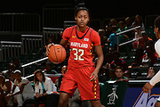February 13, 2014: Shatori Walker-Kimbrough #32 of Maryland in action during the NCAA basketball game between the Miami Hurricanes and the Maryland Terrapins at the Bank United Center in Coral Gables, FL. The Terrapins defeated the Hurricanes 67-52.