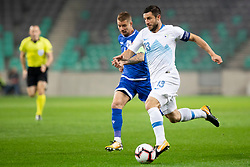 Bojan Jokic of Slovenia during football match between National Teams of Slovenia and Cyprus in Final Tournament of UEFA Nations League 2019, on October 16, 2018 in SRC Stozice, Ljubljana, Slovenia. Photo by Urban Urbanc / Sportida