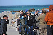 "20/08/2010 - South Africa -<br /> US Actress Halle returning from ""Dark Tide"" shooting in notorious Shark Alley between 2 islands off Gansbaai in the Cape. South Africa, In these Friday shots she's looking composed after long day shooting that took place with at least 15 Great Whites around the boat. The location is one of the best shark cage diving spots in the world that's been visited several times by Prince Harry, Brad Pitt & Matt Damon. <br /> ©Mike Behr/Exclusivepix"
