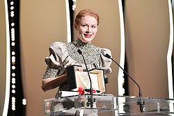 Emily Beecham receives the Best Actress award for her role in Little Joe at the Closing Ceremony during the 72nd annual Cannes Film Festival on May 25, 2019 in Cannes, France. Photo by David Niviere/ABACAPRESS.COM