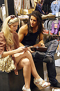 19.MAY.2011. LONDON<br /> <br /> MADE IN CHELSEA STARS OLLIE LOCKE AND CHESKA HULL SHOPPING IN LONDONS OXFORD STREET.<br /> <br /> BYLINE: EDBIMAGEARCHIVE.COM<br /> <br /> *THIS IMAGE IS STRICTLY FOR UK NEWSPAPERS AND MAGAZINES ONLY*<br /> *FOR WORLD WIDE SALES AND WEB USE PLEASE CONTACT EDBIMAGEARCHIVE - 0208 954 5968*
