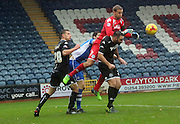Jussi Jaskelelinan  during the Sky Bet League 1 match between Rochdale and Wigan Athletic at Spotland, Rochdale, England on 14 November 2015. Photo by Daniel Youngs.