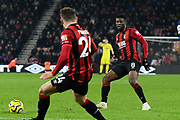 Jefferson Lerma (8) of AFC Bournemouth on the attack during the Premier League match between Bournemouth and Brighton and Hove Albion at the Vitality Stadium, Bournemouth, England on 21 January 2020.