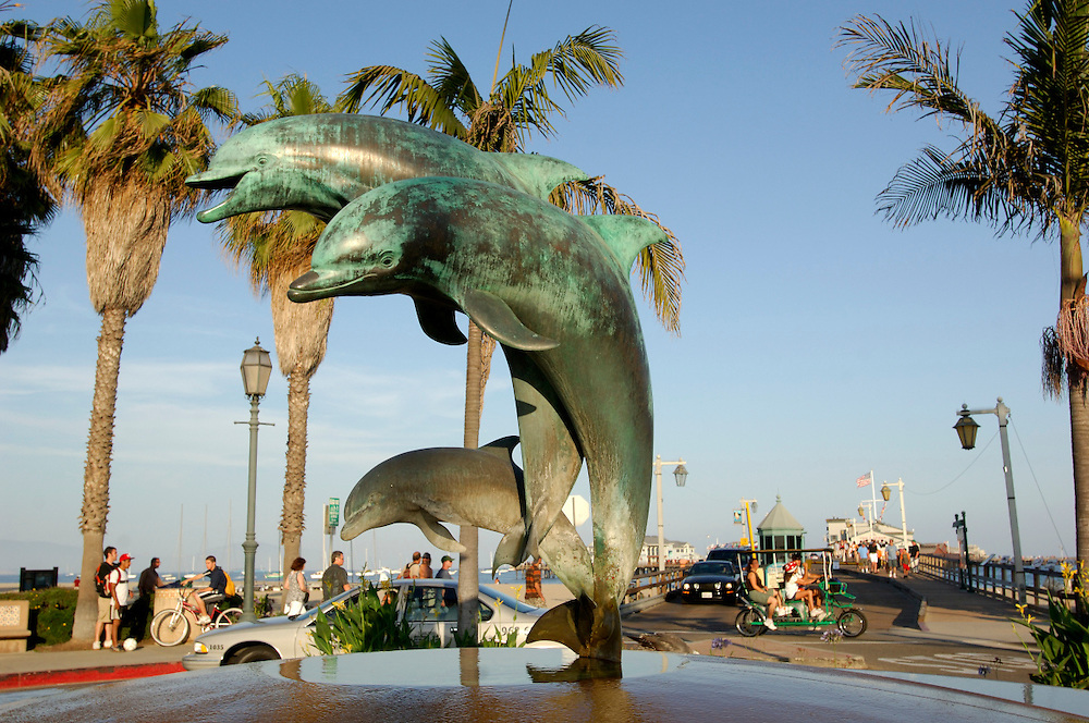 Dolphin Statue at Stearns Wharf, Santa Barbara, California, United States of America