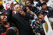 Councilman Charles Baron at The National Day of Outrage sponsored by The National Action Network and Rev. Al Sharpton on November 23, 2009 in Times Square in New York City. Terrence Jennings/Retna, Ltd..The National Day of Outrage calls attention to the daily violence which occurs in the inner cities of the United States, and promotes strategies to stop the violence and provide new directions to positive growth through economic empowerment and sustainable role models.