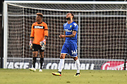Lewis Baker (34) of Leeds United looks dejected during the Pre-Season Friendly match between Oxford United and Leeds United at the Kassam Stadium, Oxford, England on 24 July 2018. Picture by Graham Hunt.