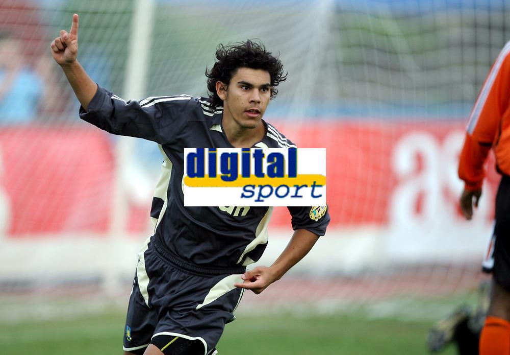 Fotball , 17. janaur 2007 , Maspalonas , Gran Canaria , Br&oslash;ndby . Shakhtar Donestk , <br /> David Wiliam , Br&oslash;ndby etter scoring