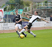 Dundee's Paul McGinn and St Johnstone&rsquo;s Chris Kane - Dundee v St Johnstone at Dens Park <br /> - Ladbrokes Premiership<br /> <br />  - &copy; David Young - www.davidyoungphoto.co.uk - email: davidyoungphoto@gmail.com