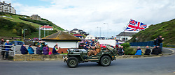 &copy; Licensed to London News Pictures. <br /> 10/09/2017 <br /> Saltburn by the Sea, UK.  <br /> <br /> An entrant drives his Jeep up the hill during the annual Saltburn by the Sea Historic Gathering and Hill Climb event. Organised by Middlesbrough and District Motor Club the event brings together owners of a wide range of classic cars and motorcycles dating from the early 1900's to 1975. Participants take part in a hill climb to test their machines up a steep hill near the town. Once held as a competitive gathering a change in road regulations forced the hill climb to become a non-competitive event.<br /> <br /> Photo credit: Ian Forsyth/LNP