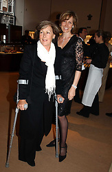 Left to right, PATTI PALMER-TOMKINSON and her daughter SANTA SEBAG-MONTEFIORE at a party to celebrate the publication of 'Last Voyage of The Valentina' by Santa Montefiore at Asprey, 169 New Bond Street, London W1 on 12th April 2005.<br />