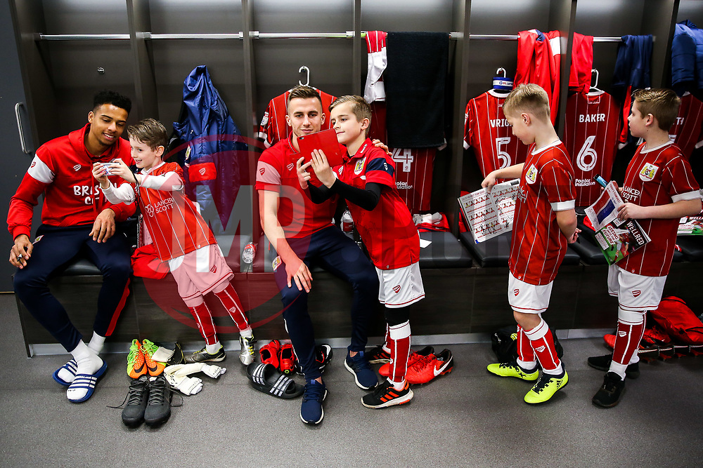 Joe Bryan of Bristol City looks on during the Mascot dressing room visit - Rogan/JMP - 27/01/2018 - Ashton Gate Stadium - Bristol, England - Bristol City v Queens Park Rangers - Sky Bet Championship.