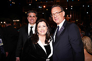 SAG-AFTRA New York Local Executive Director Jeffrey Bennett, SAG-AFTRA Local President Rebecca Damon, and Tom Hanks
