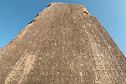 The Xanthian Obelisk, 425-400 BC, a large monolithic block on a 2-stepped krepis, with a trilingual inscription on all 4 sides, in Ancient Greek, Lycian and Milyan (the last 2 are Anatolian languages), giving important information about the period'??s history. At 250 lines, the Lycian inscription is the longest known. The  monument was erected in memory of the wars fought by the Lycian prince Kherei and originally topped a funerary chamber (now in the Istanbul Archaeological Museum), and had a projecting horizontal roof and a crowning. It is behind the north portico of the agora, Xanthos, Antalya, Turkey. Xanthos was a centre of culture and commerce for the Lycians, and later for the Persians, Greeks and Romans, and was listed as a UNESCO World Heritage Site in 1988. Picture by Manuel Cohen