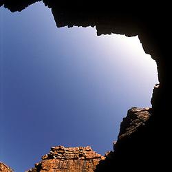 Soaring rock walls along the King George River, Kimberley, AUSTRALIA