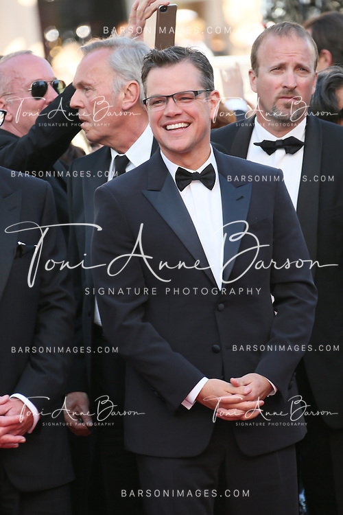 CANNES, FRANCE - MAY 21:  Matt Damon attends 'Behind The Candelabra' Premiere during The 66th Annual Cannes Film Festival on May 21, 2013 in Cannes, France.  (Photo by Tony Barson/FilmMagic)