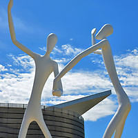 Dancers Sculpture Jonathan Borofsky in Denver, Colorado <br />