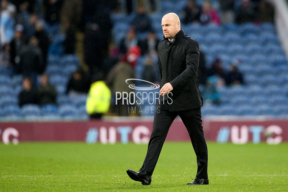 Burnley Manager Sean Dyche during the Premier League match between Burnley and West Ham United at Turf Moor, Burnley, England on 9 November 2019.
