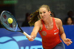 July 21, 2018 - Washington D.C, United States - NICOLE MELICHAR in World Team Tennis action for the Washington Kastles. (Credit Image: © Christopher Levy via ZUMA Wire)