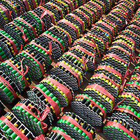 Hunan, Liuyang, Dec. 19..2013 : rural women produce fireckrackers for the Western market in a factory .