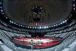 Arena Palalottomatica during practice session of basketball club KK Union Olimpija day before Euroleague Top 16 Round Match vs Lottomatica Roma, on January 19, 2011 in Arena PalaLottomatica, Rome, Italy. (Photo By Vid Ponikvar / Sportida.com)