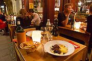 Berlin, Germany. Chez Maurice restaurant. Blutwurst (boudin).