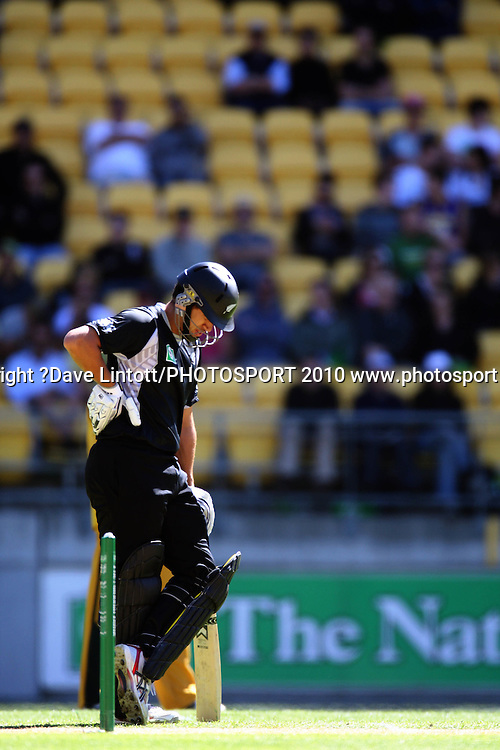 NZ batsman Ross Taylor.<br /> Fifth Chappell-Hadlee Trophy one-day international cricket match - New Zealand v Australia at Westpac Stadium, Wellington. Saturday, 13 March 2010. Photo: Dave Lintott/PHOTOSPORT