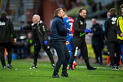 John Robertson, manager of Inverness Caledonian Thistle FC celebrates at the final whistle of the William Hill Scottish Cup quarter final match between Dundee United and Inverness CT at Tannadice Park, Dundee, Scotland on 3 March 2019.