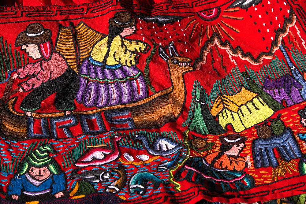 handicrafts  Uros Floating Islands (Las Islas Flotantes)  Lake Titicaca  Peru