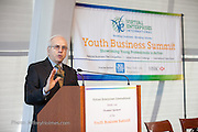 Lloyd Bromberg, VEI Project Director, Virtual Enterprises International's Global Business Challenge was part of the Youth Business Summit held at NYU's Kimmel Center in New York on April 1, 2014. (Photo: JeffreyHolmes.com)