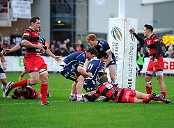 Bristol Rugby Winger David Lemi scores a try  - Mandatory byline: Joe Meredith/JMP - 05/12/2015 - RUGBY - Billesley Common - Birmingham, England - Moseley v Bristol Rugby - Greene King IPA Championship