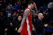 Micov Vladimir Delusione<br /> A X Armani Exchange Olimpia Milano - Pallacanestro Cantu<br /> Basket Serie A LBA 2019/2020<br /> Milano 05 January 2020<br /> Foto Mattia Ozbot / Ciamillo-Castoria